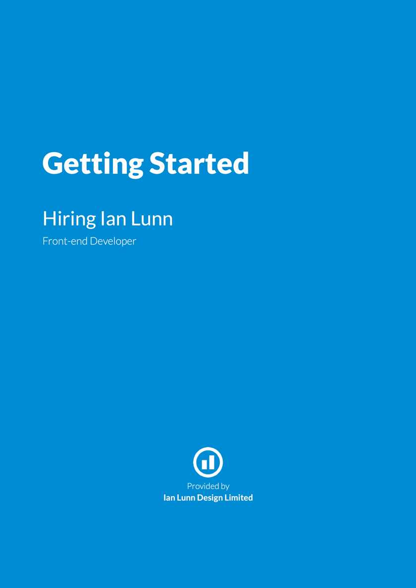 Screenshot from Getting Started Hiring Ian Lunn PDF